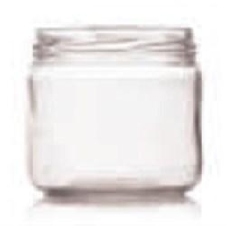 12 oz Glass Jar, Round, Flint, 82-2040 Straight Sided