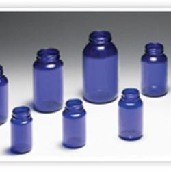 400 cc Glass Packer, Round, Cobalt Blue, 53-400