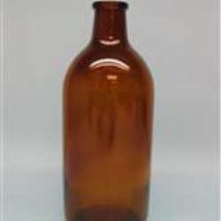 500 ml Glass Type 2 Boston Round, Round, Amber, 30mm finish Long Neck