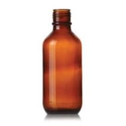 500 ml Glass Packer, Round, Amber, 38-439