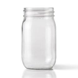 16 oz Glass Jar, Round, Clear, 70-450