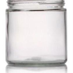16 oz Glass Jar, Round, Flint, 89-400 Straight Sided