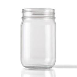 12 oz Glass Jar, Round, Clear, 70-450
