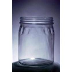24 oz Glass Jar, Round, Flint, 89-405