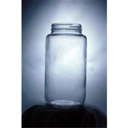 32 oz Glass Jar, Round, Flint, 70-2030
