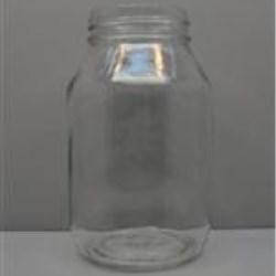 32 oz Glass Jar, Round, Flint, 70-450