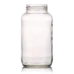 26 oz Glass Jar, Round, Flint, 63-2030