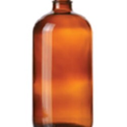 32 oz Glass Boston Round, Round, Amber, 33-405