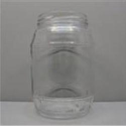 32 oz Glass Jar, Round, Flint, 82-2040