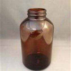 950 cc Glass Packer, Round, Amber, 53-405