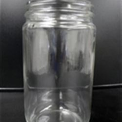 32 oz Glass Jar, Round, Flint, 89-400 Straight Sided