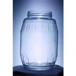 48 oz Glass Jar, Round, Flint, 82-2040