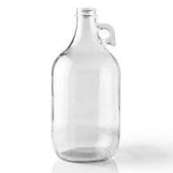 64 oz Glass Handleware, Round, Flint, 38-405 Finger Hole