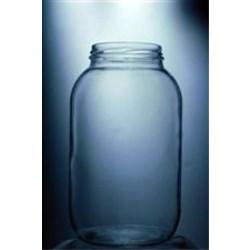 64 oz Glass Jar, Round, Flint, 240