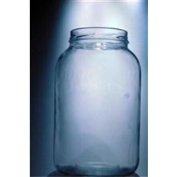 1 gal Glass Jar, Round, Flint, 110-400