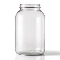 128 oz Glass Jar, Round, Clear, 110-405
