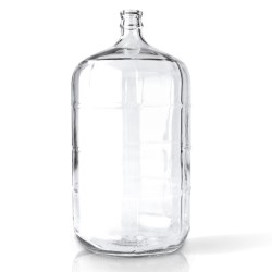 6 gal Glass Carboy, Round, Flint, 30mm Cork finish