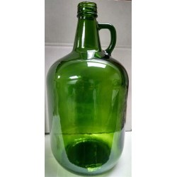 4 ltr Glass Handleware, Round, Champagne Green, Cork finish 4002