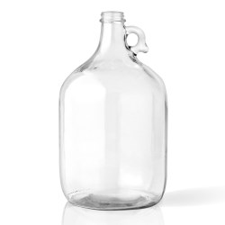 128 oz Glass Handleware, Round, Clear, 38-405 Finger Hole