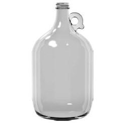 128 oz Glass Handleware, Round, Flint, 38-405 Finger Hole