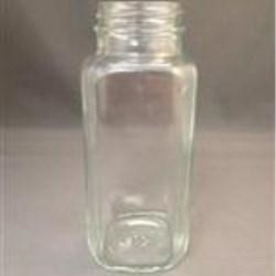 8 oz Glass Jar, Square, Flint, 43-400