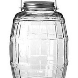 2.5 gal Glass Jar, Round, Flint, 120mm finish