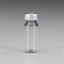 2 cc Glass Vial, Round, Flint, 13Special finish Sterile Gray Stopper