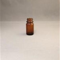8.5 cc Glass Packer, Round, Amber, 20-400