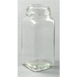 4 oz Glass Jar, Square, Flint, 43-485