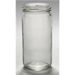 8 oz Glass Jar, Round, Flint, 58-400
