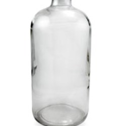 32 oz Glass Boston Round, Round, Flint, 33-400 GPI finish Sloped Shoulder