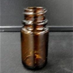 15 cc Glass Packer, Round, Amber, 28-400 GPI finish
