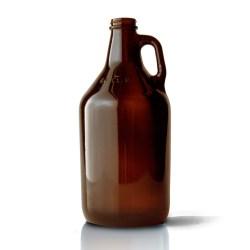 64 oz Glass Handleware, Round, Amber, 38-405