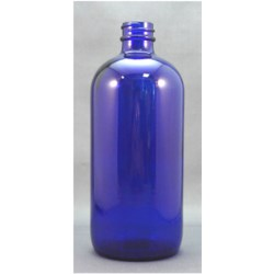 16 oz Glass Boston Round, Round, Cobalt Blue, 28-400