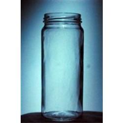 16 oz Glass Jar, Round, Flint, 63-2030