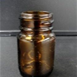 50 ml Glass Packer, Round, Amber, 33-400 GPI finish