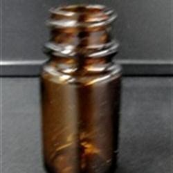 40 cc Glass Packer, Round, Amber, 33-400 GPI finish