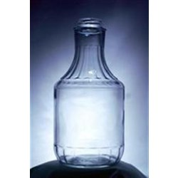 32 oz Glass Type 3 Carafe/Decanter, Round, Flint, 38-2000 Fluted
