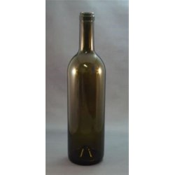 750 ml Glass Claret, Round, Antique Green, Cork finish