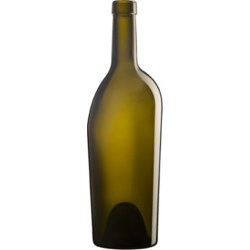 750 ml Glass Long Neck, Round, Antique Green, Cork finish 8020002