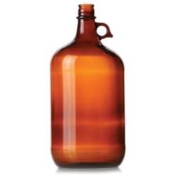 4 ltr Glass Handleware, Round, Amber, 38-439