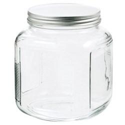 128 oz Glass Jar, Round, Flint, 120-400