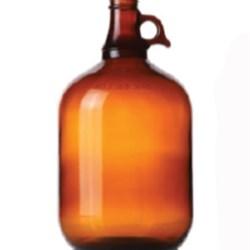 128 oz Glass Handleware, Round, Amber, 38-405