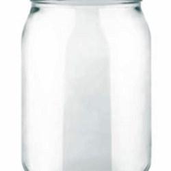 16 oz Glass Jar, Round, Flint, 70-2030