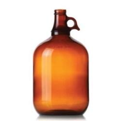 1 gal Glass Handleware, Round, Amber, 38-400
