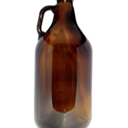 64 oz Glass Handleware, Round, Amber, 38-400