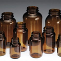 75 cc Glass Packer, Round, Dark Amber, 38-400