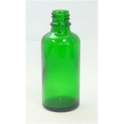 100 ml Glass Boston Round, Round, Emerald Green, 18Tamper Evident finish