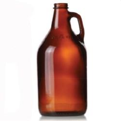 64 oz Glass Handleware, Round, Amber, 38-450