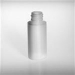 1 oz HDPE Cylinder, Round, 20-410, Sharp Shoulder Flamed